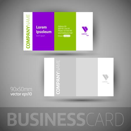 elegant vector: Business card template. Elegante illustrazione vettoriale.