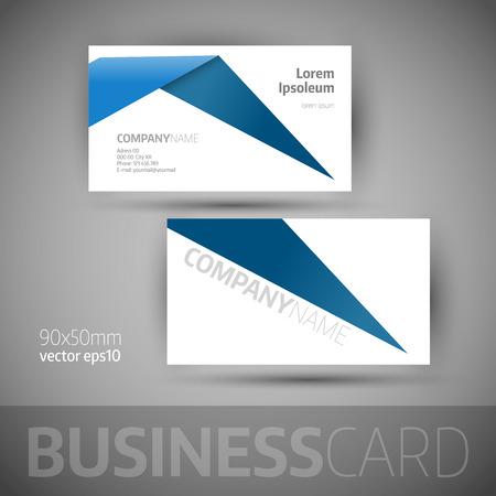 blue card: Business card template. Elegant vector illustration.