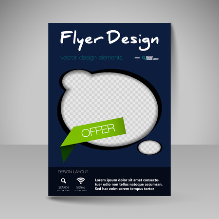 magazine cover: Template for brochure or flyer. Editable site for business, education, presentation, website, magazine cover.