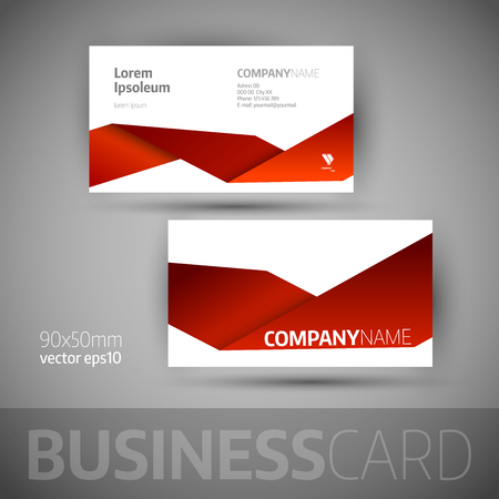 Business card template. Elegant vector illustration.