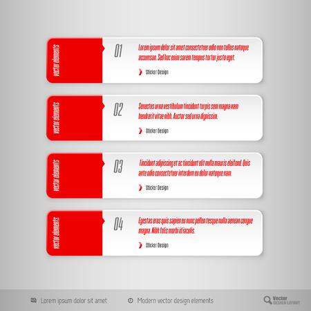 tabs: Design elements for infographics, layout, web pages. Modern symbols on the elegant tabs. Illustration