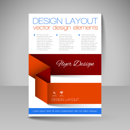 business education: Template for brochure, flyer. Editable site for business, education, presentation, website, magazine cover.