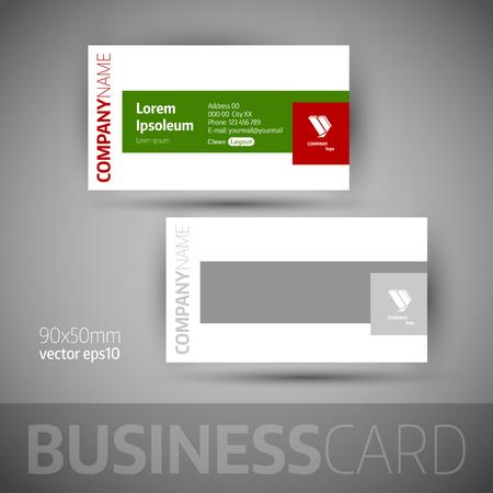 business card: Business card template. Elegant vector illustration.