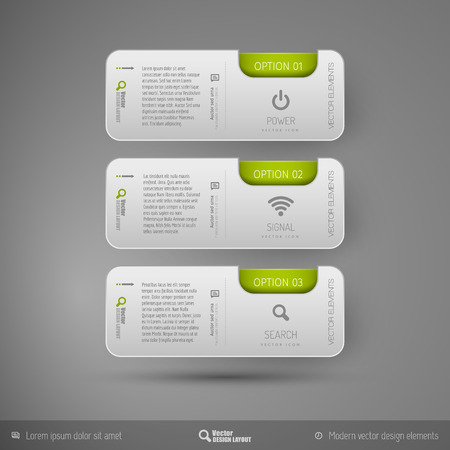 page layout: Vector business stickers template for web designs, presentations, education, brochures, infographics and flyers.