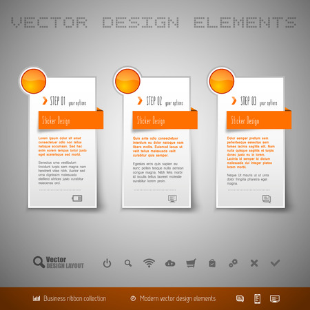 web design elements: Modern vector design elements for infographics, print layout, web pages.