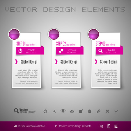 design vector: Modern vector design elements for infographics, print layout, web pages.
