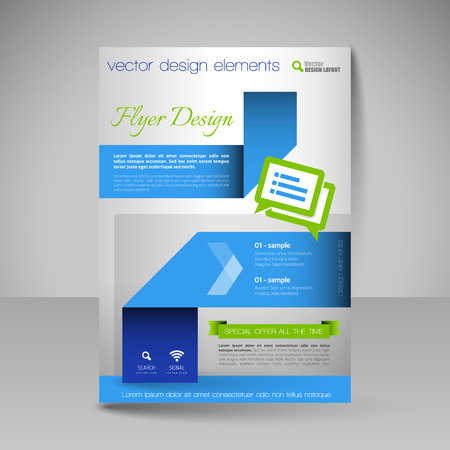 magazine template: Template for brochure or flyer. Editable site for business, education, presentation, website, magazine cover.