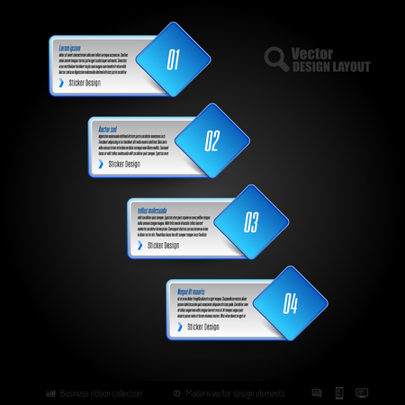 web buttons: Vector business stickers. Template of web designs, presentations, infographics. Design elements.