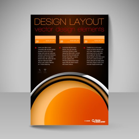 business flyer: Template for brochure or flyer. Editable site for business, education, presentation, website, magazine cover.