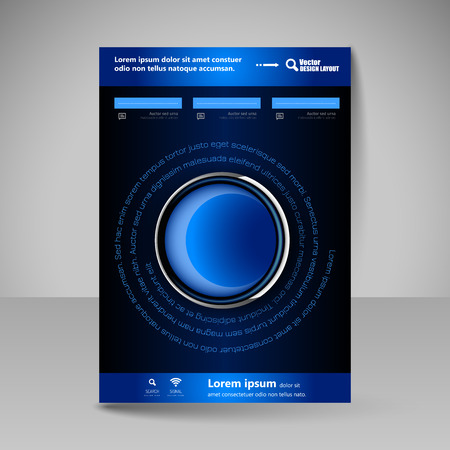 user: Template for brochure or flyer. Editable site for business, education, presentation, website, magazine cover.