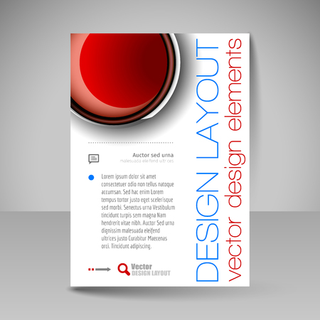 abstract template: Template for brochure or flyer. Editable site for business, education, presentation, website, magazine cover.