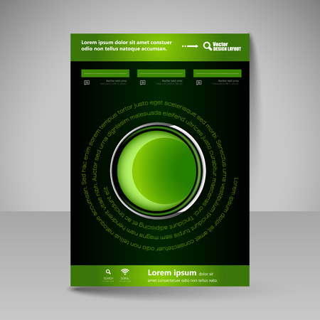 business education: Template for brochure or flyer. Editable site for business, education, presentation, website, magazine cover.