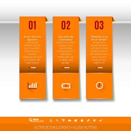 magazine layout design template: Modern vector design elements for infographics, print layout, web pages.