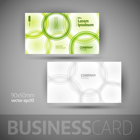 carte visite: Business card with bubbles. Vector design elements.