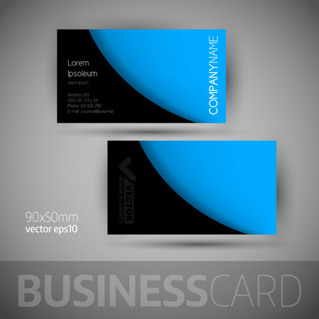 business card template: Business card template with sample texts. Elegant vector design elements.