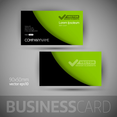 calling card: Business card template with sample texts. Elegant vector design elements.
