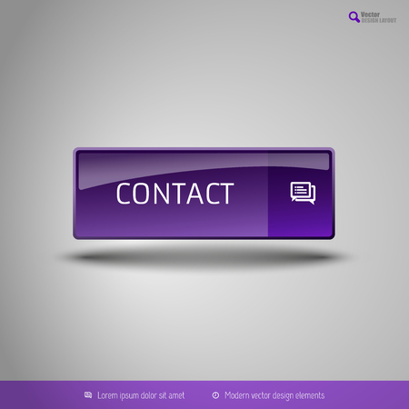 special edition: Simple button on the neutral gray background with icons. Vector design elements. Special purple edition.