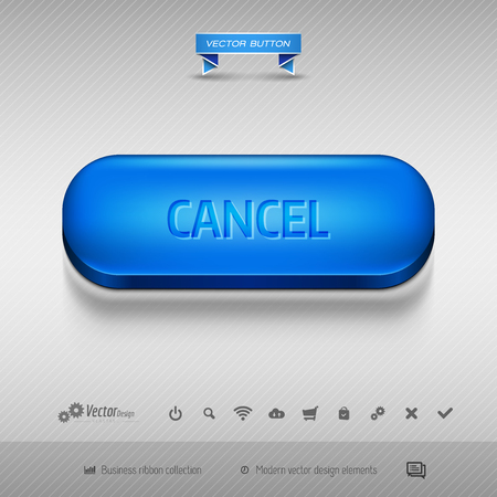 canceled: Business web buttons for website or app. Vector design elements.