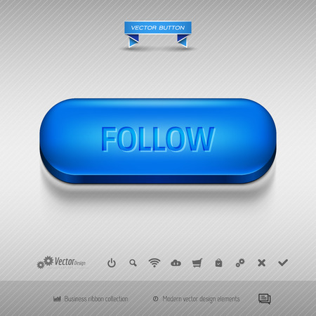 web buttons: Business web buttons for website or app. Vector design elements.