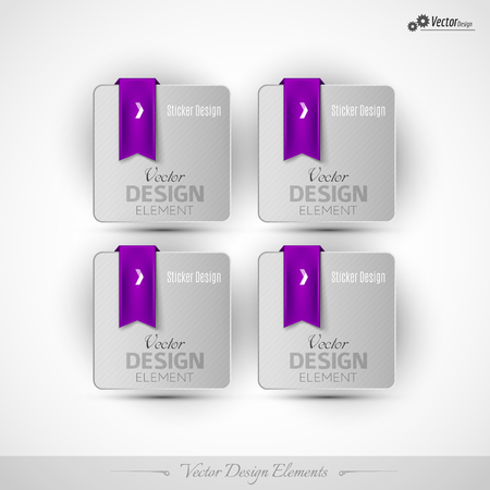 coupon: Business stickers on the white background. Vector design elemnts for infographics and web presentations.