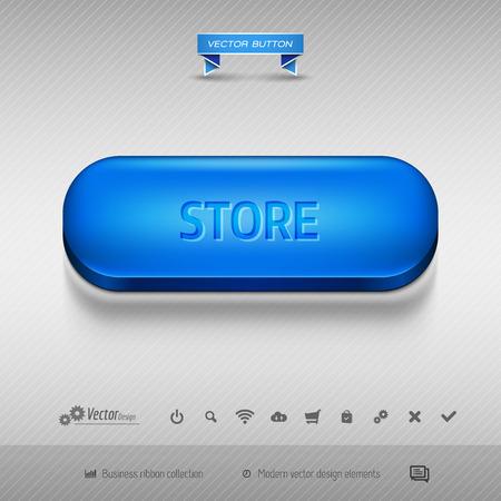 eshop: Business web buttons for website or app. Vector design elements.