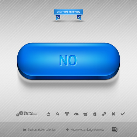 disapproval: Business web buttons for website or app. Vector design elements.