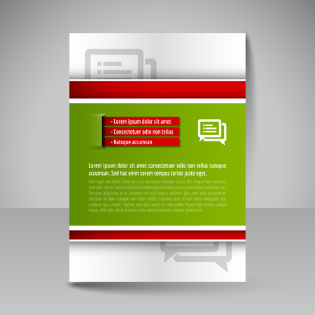 editable: Business brochure. Editable A4 poster for design cover of magazine, education, presentation, website. Flyer template. Illustration