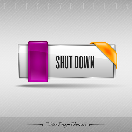 shutdown: Business web button for website or app. Vector design element.