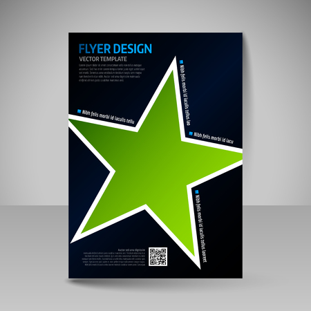 business education: Brochure template. Editable A4 poster for design, presentation, education, website, magazine cover. Business flyer.