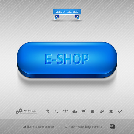 eshop: Business web buttons for website or app.