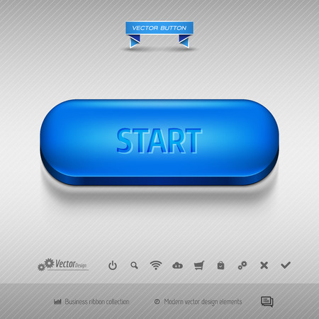 blue button: Business web buttons for website or app.