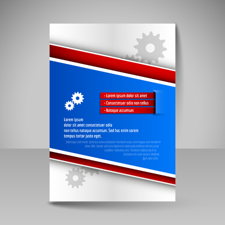 magazine cover: Brochure template. Editable A4 poster for design, presentation, education, website, magazine cover. Business flyer.