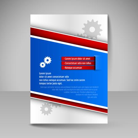 magazine design: Brochure template. Editable A4 poster for design, presentation, education, website, magazine cover. Business flyer.