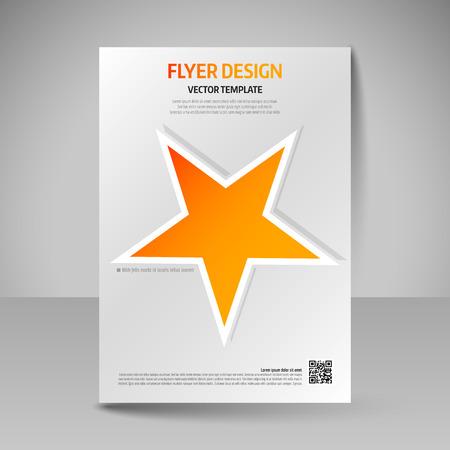 magazine design: Business brochure. Editable A4 poster for design cover of magazine, education, presentation, website. Flyer template. Illustration