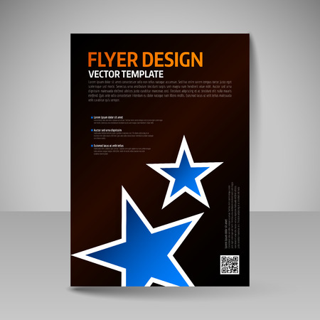 business education: Flyer, magazine cover, brochure, template design for business education, presentation, website. Editable vector illustration.