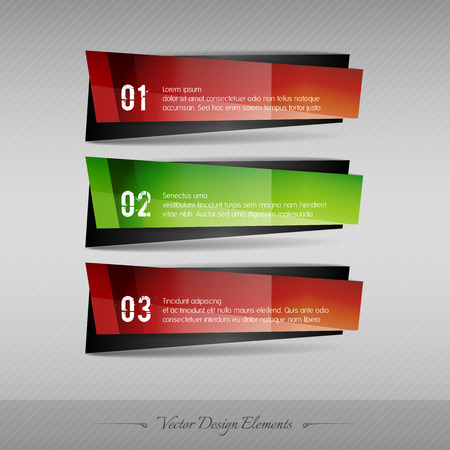 web design elements: Business banner for infographic, web design, apps. Vector design elements. Full color stickers.