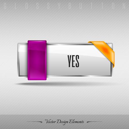 web element: Business web button for website or app. Vector design element.