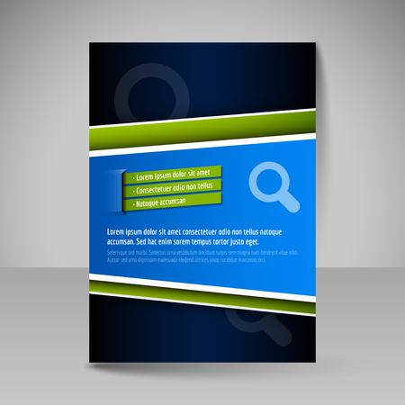 editable: Template of flyer for business brochures, presentations, websites, magazine covers. Editable vector design elements.