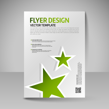 flyer background: Editable vector template of flyer for business brochure, presentation, website, magazine cover. Illustration