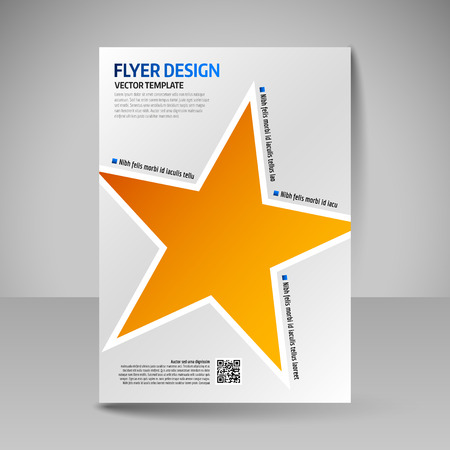 advertisement: Template of flyer for business brochures, presentations, websites, magazine covers. Editable vector design elements.