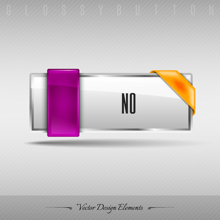 disapproval: Business web button for website or app. Vector design element.