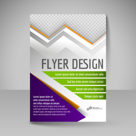 editable: Flyer, magazine cover, brochure, template design for business education, presentation, website. Editable vector illustration. Green and purple colors.