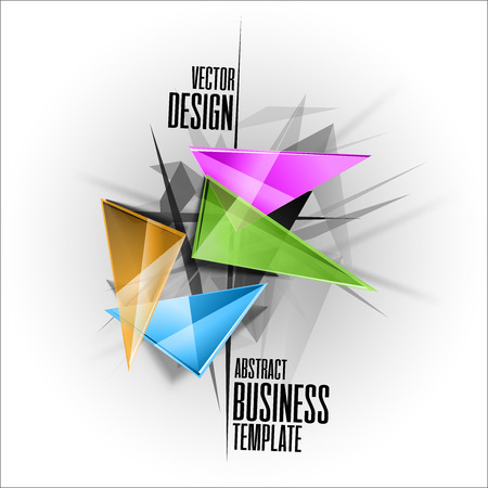 sharp: Sharp triangles on the abstract background as business template. Vector design elements. Illustration