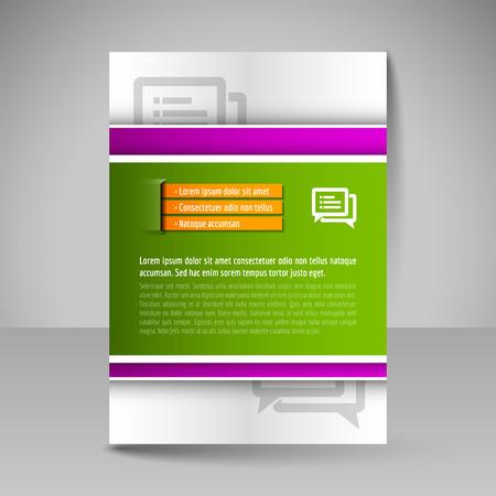 magazine design: Flyer, magazine cover, brochure, template design for business education, presentation, website. Editable vector illustration.