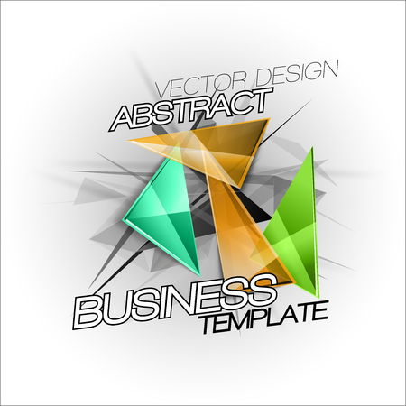abstract background vector: Abstract symbols as busines template. Sharp triangles on the abstract background. Vector design elements. This images without sample texts in my portfolio.