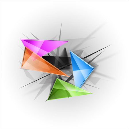 busines: Abstract symbols as busines template. Sharp triangles on the abstract background. Vector design elements.