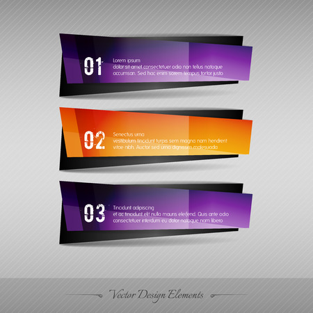 full color: Business banner for infographic, web design, apps. Vector design elements. Full color stickers.