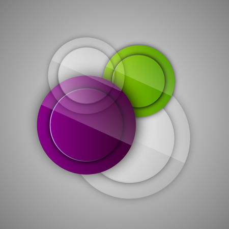 energy symbol: Abstract background with glossy circles. Vector design elements. Glossy buttons.