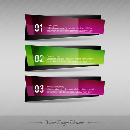forms: Business banner for infographic, web design, apps. Vector design elements. Full color stickers.
