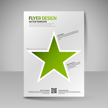 business education: Business brochure. Editable A4 poster for design cover of magazine, education, presentation, website. Flyer template. Illustration